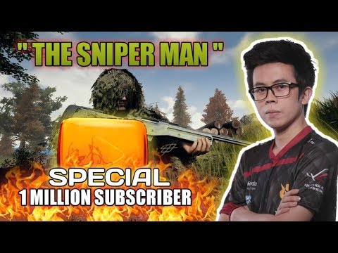 """"""" THE SNIPER MAN """" SPECIAL 1 MILLION SUBSCRIBER !!! - PUBG MOBILE INDONESIA thumbnail"""
