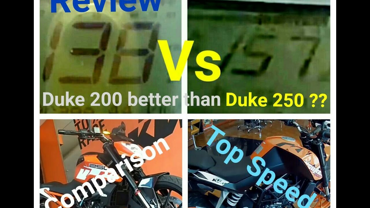 Duke 250 Vs Duke 200 Review Comparison Price Top Speed Youtube
