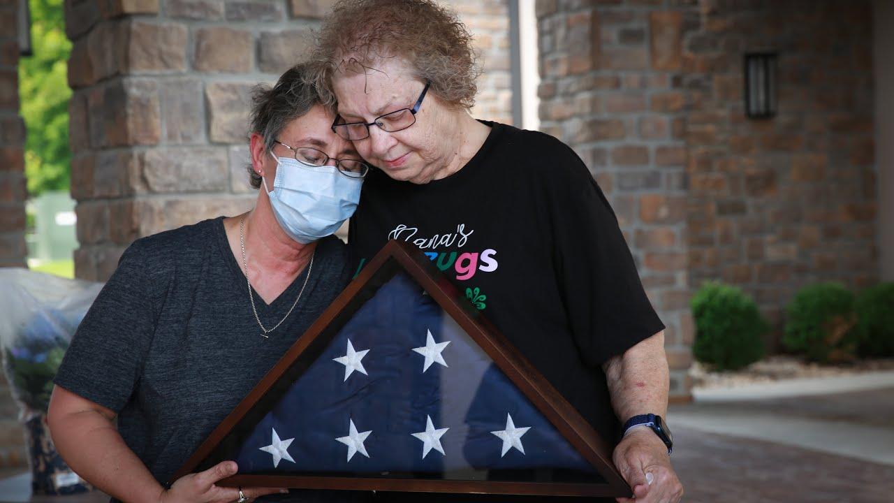 Retiring Flag at Joplin CBOC