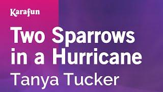 Karaoke Two Sparrows in a Hurricane - Tanya Tucker *