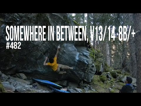 The Race To 1000 - #482 - Somewhere In Between, V13/14 (8B/+)