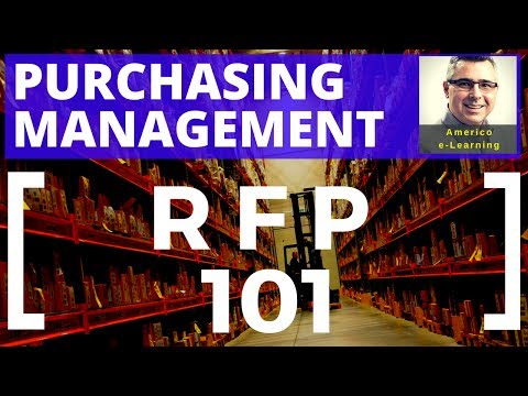 Request for Proposal RFP - learn quickly and succeed in Purchasing Management career