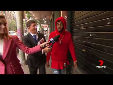 Seven + Nine News. Chinese Students Robbed By Black Thugs.(Melbourne CBD)(Refugees?)