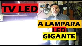 COMO CONVERTIR TV LED VIEJO EN LAMPARA LED GIGANTE