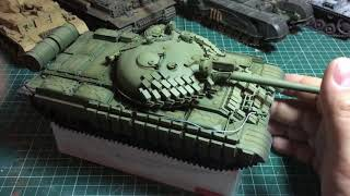 Модель танка т 62 трубач готова