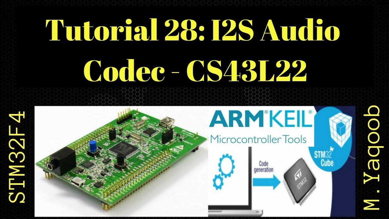 STM32F4 Discovery board - Keil 5 IDE with CubeMX: Tutorial 28 - I2S Audio  Codec - CS43L22