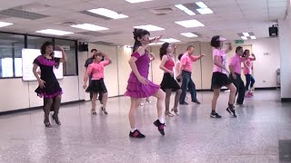 Cha Cha Queen - line dance (demo & walk through in English , Chinese & Vietnamese) = 恰恰女王 - 排舞(含導跳)