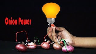 Onion Power - Science Experiments with Onion - Onion Battery Experiment - Simple Crafts