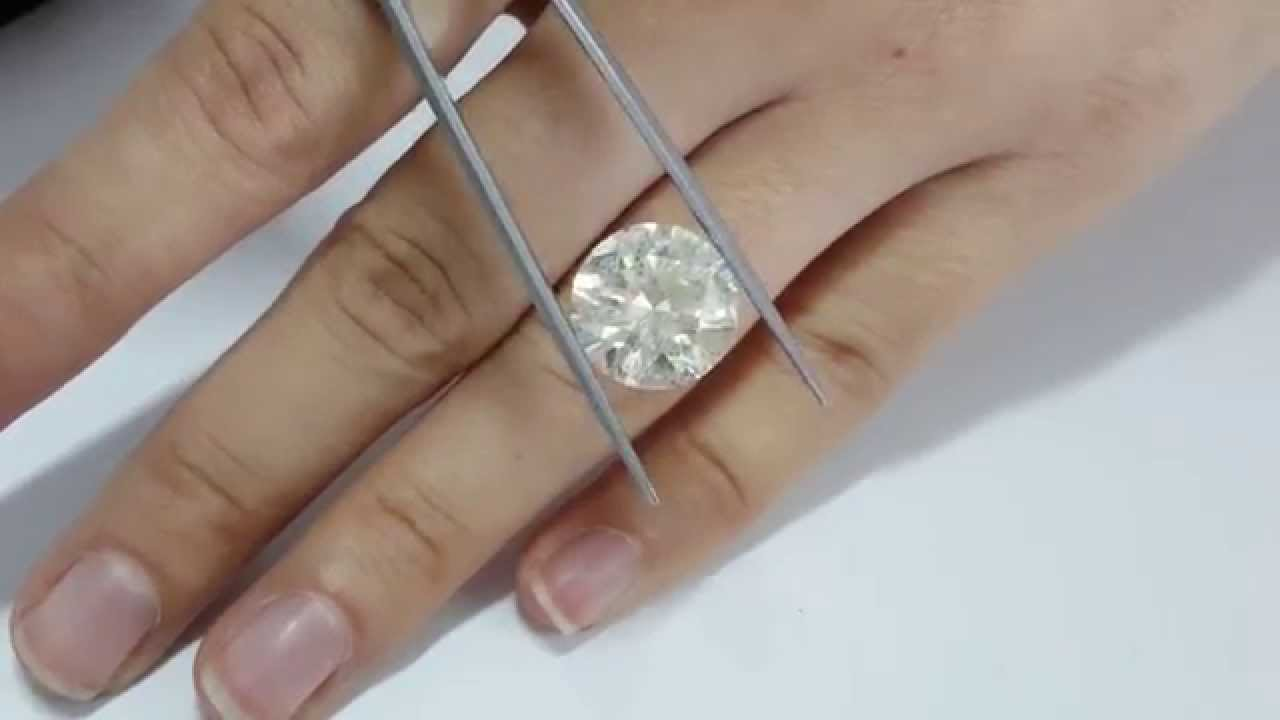 10 Carat Round Natural J Si2 Loose Diamond For Engagement