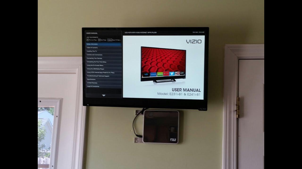 2014 vizio e241i b1 24 inch 1080p 60hz smart led hdtv review youtube rh youtube com vizio m322i-b1 32-inch 1080p smart led tv manual vizio 50 led smart tv manual