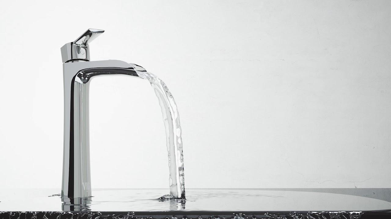 Vigo Niko Vessel Bathroom Faucet Youtube