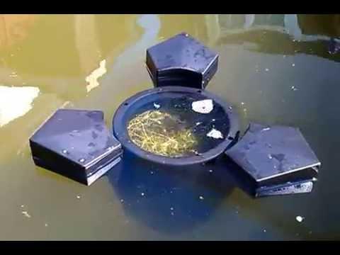 Floating pond skimmer youtube for Koi pond skimmer