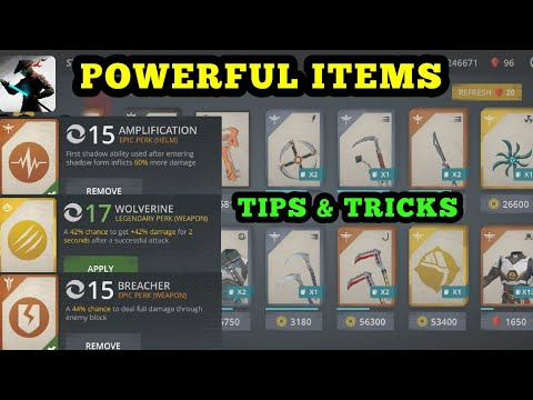Shadow Fight 3 how to get powerful items from the store ✔