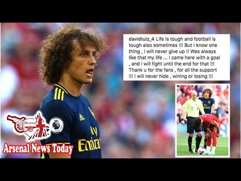 Arsenal Ace David Luiz Sends Message To Fans On Instagram After Liverpool Horror Show- News Today