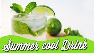 Tangy Sweet Lime Juice With Mint