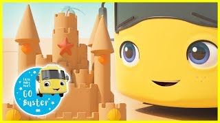 Learn How To Build a Sandcastle | ABCs and 123s | GoBuster | Nursery Rhymes | Single