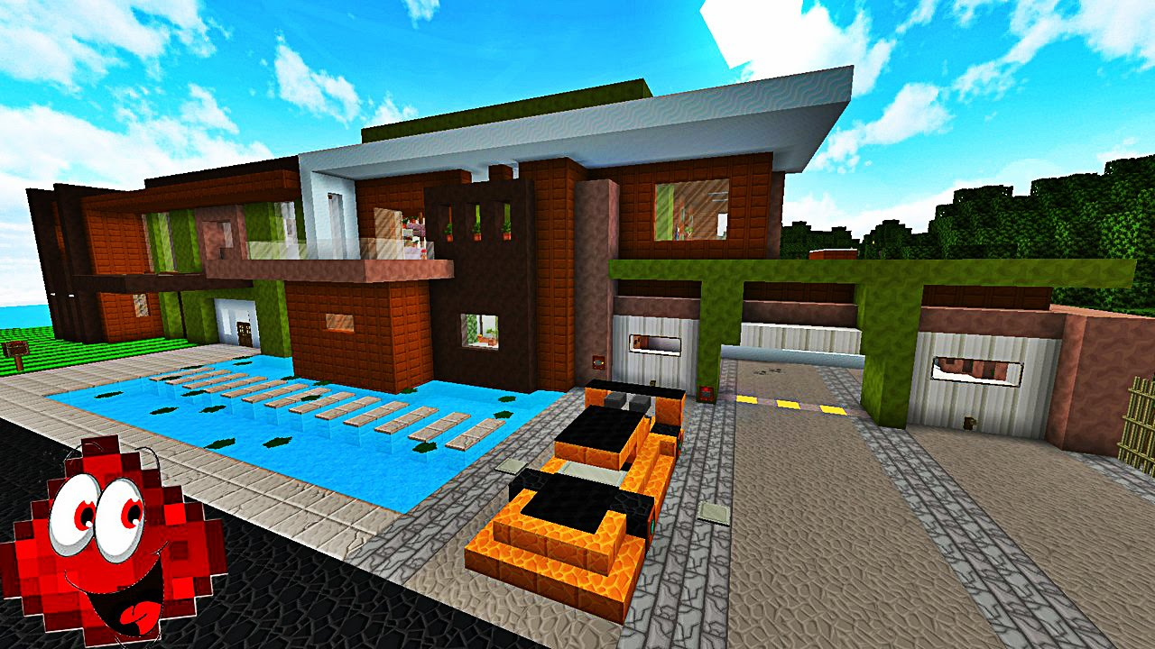 Une immense maison moderne automatis e redstone house 3 youtube for Maison moderne domotique