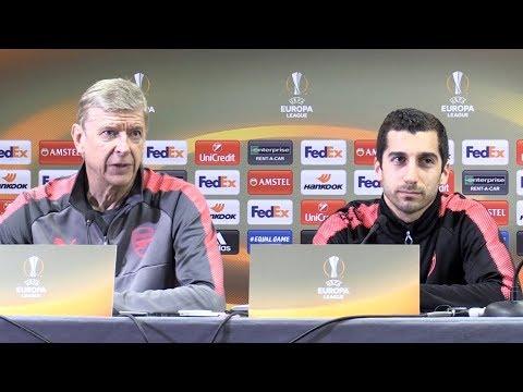 Arsene Wenger & Henrikh Mkhitaryan Pre-Match Press Conference - Arsenal v CSKA Moscow -Europa League