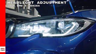 2019 BMW 3 Series M340i Headlight Adjustment