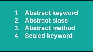 C# in Urdu/Hindi Abstraction classes methods sealed OOP Lecture13