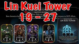 MK Mobile LIN KUEI Tower 19 - 27 Gameplay | Mortal Kombat Mobile Update 2.4.0