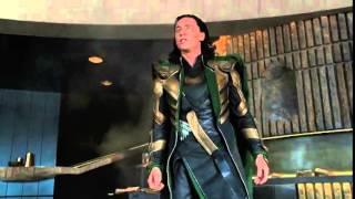 Самый смешной момент из фильма  quot;Мстители quot; Халк и Локи  1