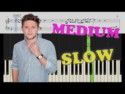 Niall Horan - Too Much To Ask - Piano Tutorial - SLOW VERSION TOO!!