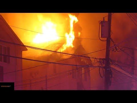 Newark: Firefighters Battle Fully Involved 1st Alarm Fire - 01/25/2018.