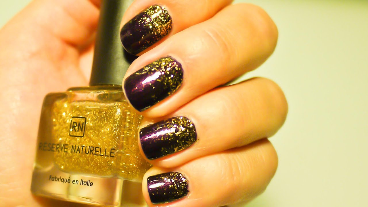 nail art degrade paillettes