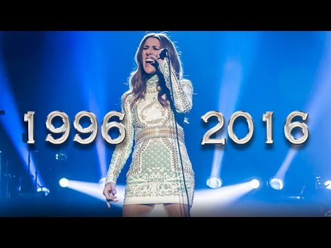 Celine Dion and the way to end All  Myself with high notes through out the years