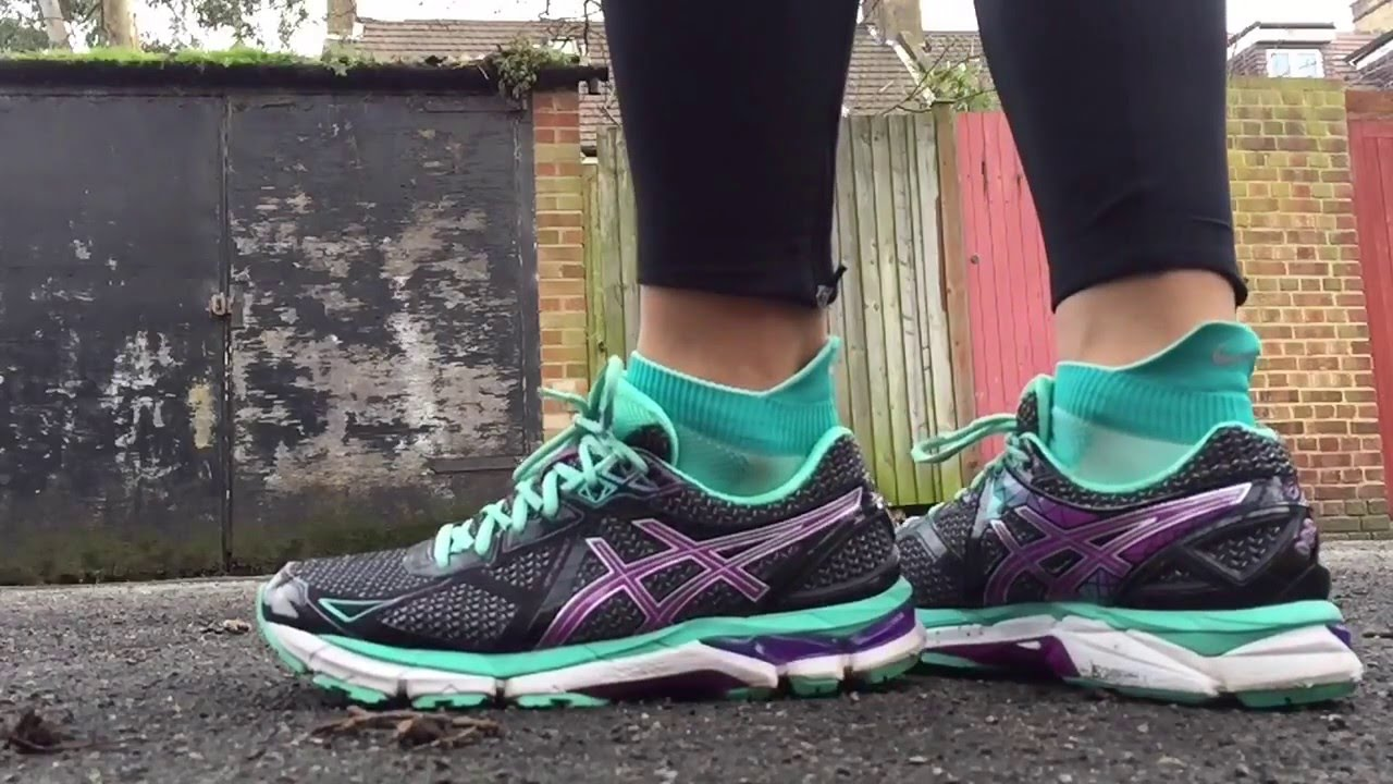 a38ec95eeb1 Women s ASICS Gel GT 2000 3 (Black Green Purple) - YouTube