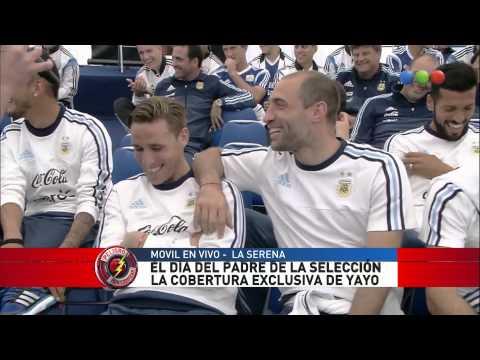Yayo junto a la Selección Argentina en el día del padre - Peligro sin codificar 2015