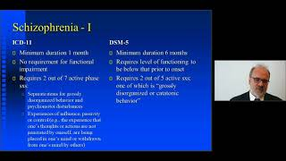 Michael First: Schizophrenia in ICD-11 and DSM-5