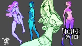 Digital Figure Drawing Practice ♦ Sketching Women