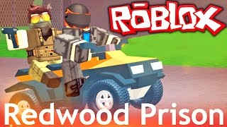 Roblox - ATV Four-Wheeler PRISON ESCAPE!! Redwood Prison UPDATE | Roblox Gameplay
