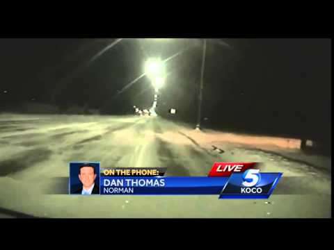 Crews work to clear Norman roads of snow
