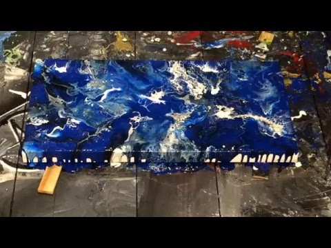 Rapture - Fluid Acrylic Painting - Abstract Art by Eric Siebenthal