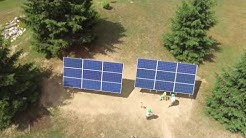 MT Solar Double Pole Mount Installation -  Boston NY