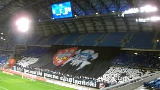 """Oprawa """"Styl poznański mocno chuligański"""" Lech Poznań - FK Sarajevo 1:0 (22.07.2015)"""