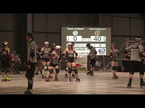 Roller Derby World Cup 2018 Iceland vs. Indigenous