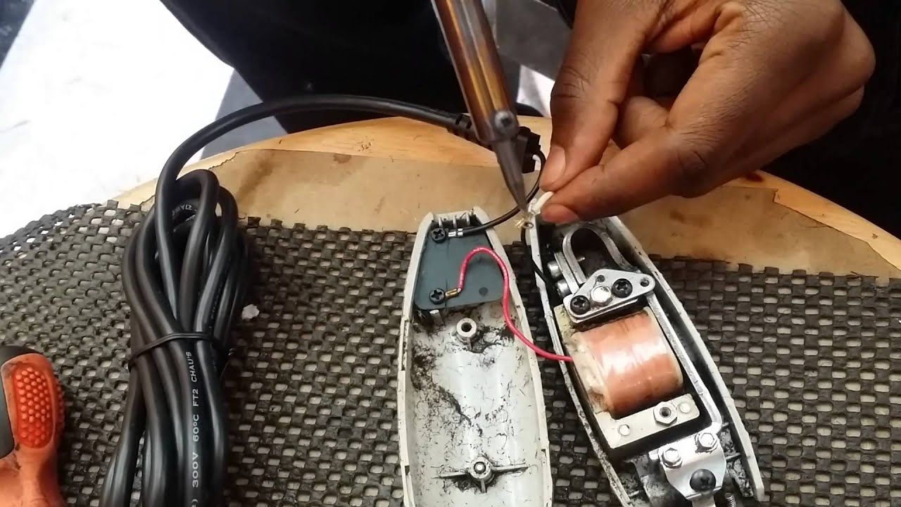how to repair andis outliner cord part 2 [ 1280 x 720 Pixel ]