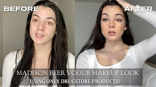 I recreated madison beers guide to soap brows and easy blush   beauty secrets vogue makeup tutorial using only drugstore products! wanted show you all...