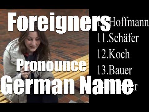 German names for foreigners/ deutschen Nachnamen für Ausländer