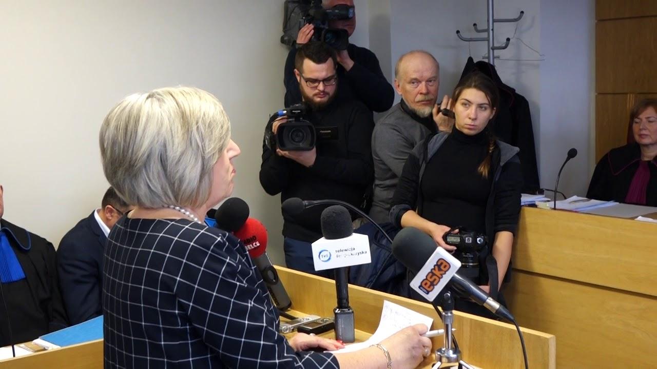 Prezes MPK Elżbieta Śreniawska podczas rozprawy w Sądzie Okręgowym 29.12.2017