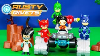 RUSTY RIVETS Nickelodeon Build Me Tank + PJ MASKS Sneaky Romeo and Alvin and the Chipmunks