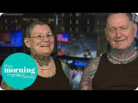 World's Most Tattooed Senior Citizens - Charlotte Guttenberg And Chuck Helmke   This Morning