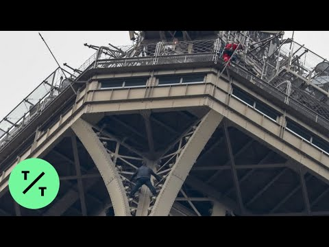 Eiffel Tower Is Evacuated Because of Climber