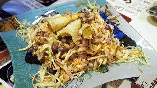 САЛАТ С Фасолью , ветчиной и блинчиками - рецепты салатов