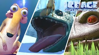 Ice Age: Scrat's Nutty Adventure All Bosses (XB1, PS4)