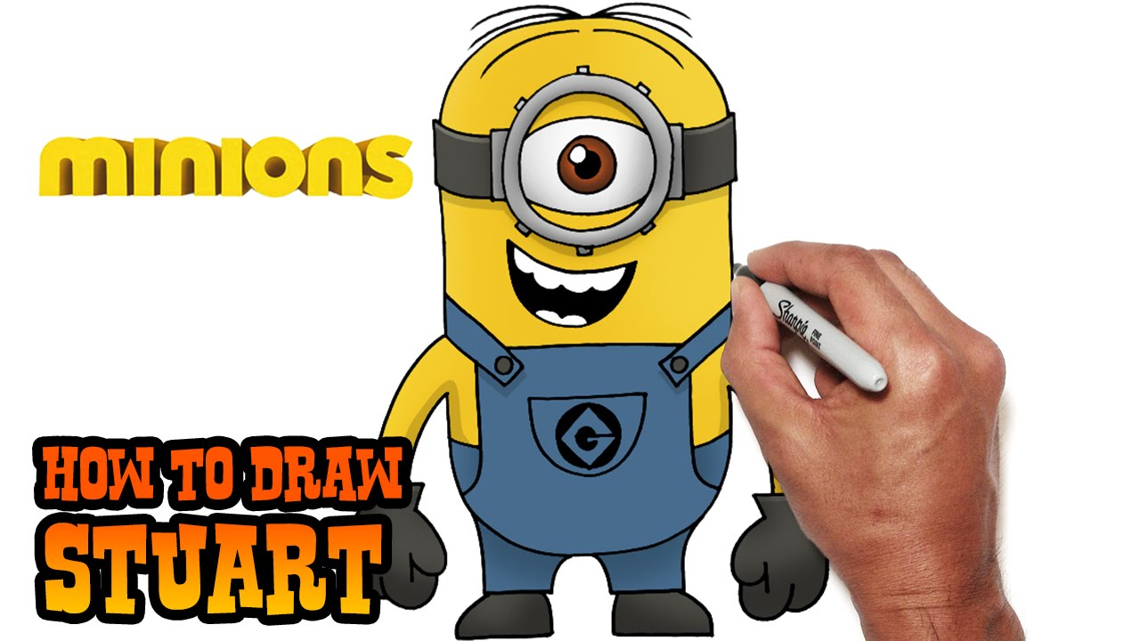 How To Draw Stuart Minions Youtube